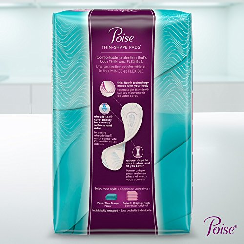 Poise Ultra Thin Incontinence Pads, Light Absorbency, Unscented, Regular (30 Count) (Pack of 4) by Poise (Image #15)