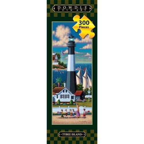 (Tybee Island Lighthouse Dowdle Folk Art 300 Piece Tall Jigsaw Puzzle 8 X 24 )