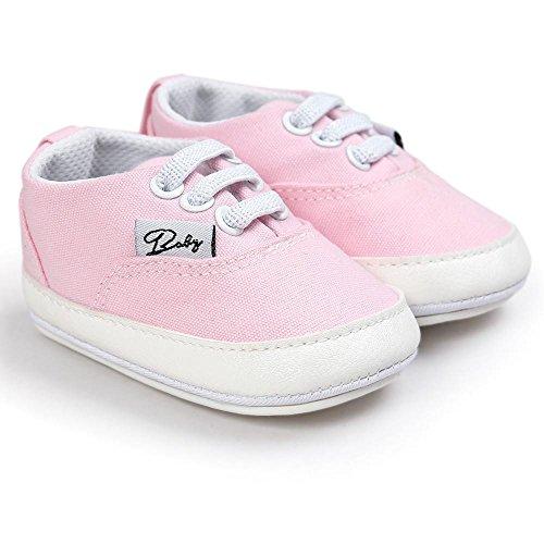 Zapatos de bebé, Switchali zapatos BebéNiña Chicos moda Zapato de lona Recién nacido nino Zapatos casuales Zapatilla Antideslizante Suela blanda barato gran venta Rosado