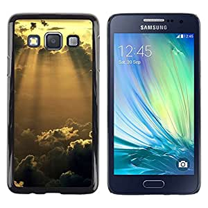 All Phone Most Case / Oferta Especial Duro Teléfono Inteligente PC Cáscara Funda Cubierta de proteccion Caso / Hard Case Samsung Galaxy A3 // Sunshine Glow Clouds
