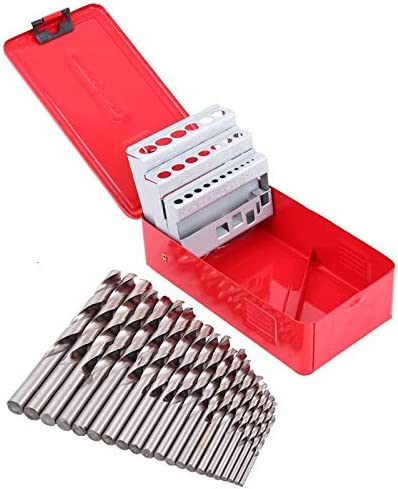WEI-LUONG Screw 25Pcs 1-13mm Twist Drill Bit Set HSS Speed Steel Wood Drilling Kit Metal Metric High Power Tool Drill