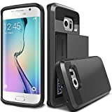 RevoLity Damda Slide Card Slot Drop Protection Heavy Duty Wallet Protective Phone Case for Samsung Galaxy S6/ S6 Edge/ S6 Edge Plus/ S7/ S7 Edge/ Samsung Note 5 (Samsung Galaxy S7, Black)