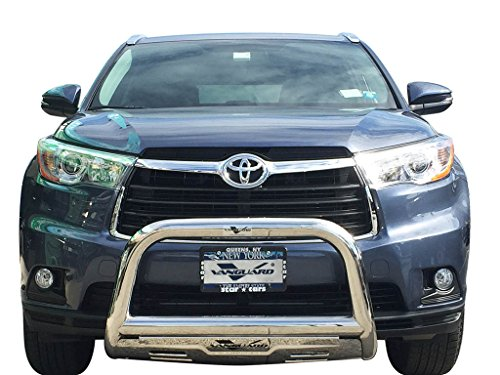 VANGUARD Off Road VGUBG-1248SS For Toyota Highlander 2014-2018 Bumper Guard Stainless Steel Bull Bar with Skid Plate