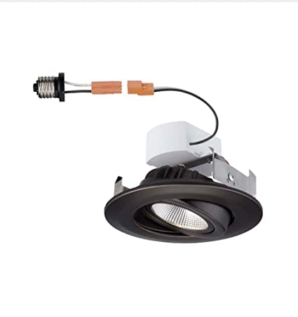 commercial electric bronze 4 in recessed led gimbal trim amazon com