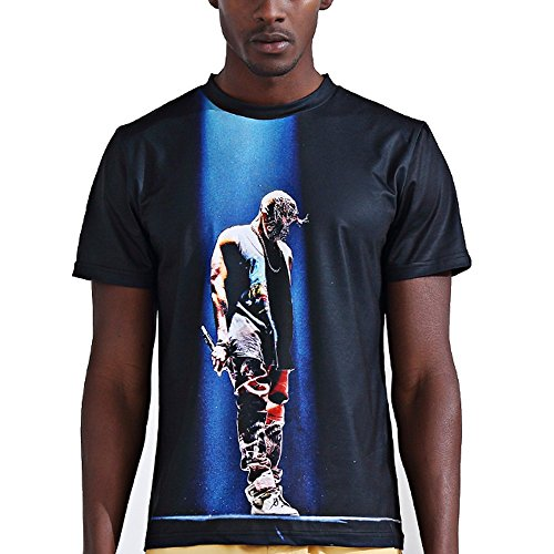 katomi Herren Kurzärmliges Shirt 3D-Druck Kurzarm T-Shirt Elegant