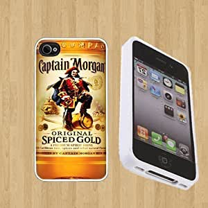 NADIA Diy Yourself CAPTAIN MORGAN Custom case cover/Cover FOR Apple iPhone 4 / 4s** WHITE** Rubber case cover 7PsNJaE9ON9