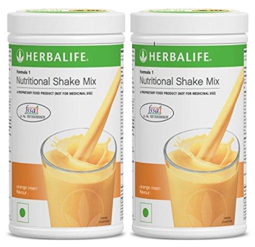Herbalife Formula 1 Nutritional Shake Mix, 500g Orange Cream, Pack of 2 (DHL Shipping)