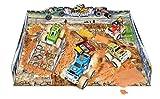 Big Wheel 4x4 Monster Truck Stunt Stadium - Includes 2 Vehicles, Molding Sand, Play Mat (38 Pcs)