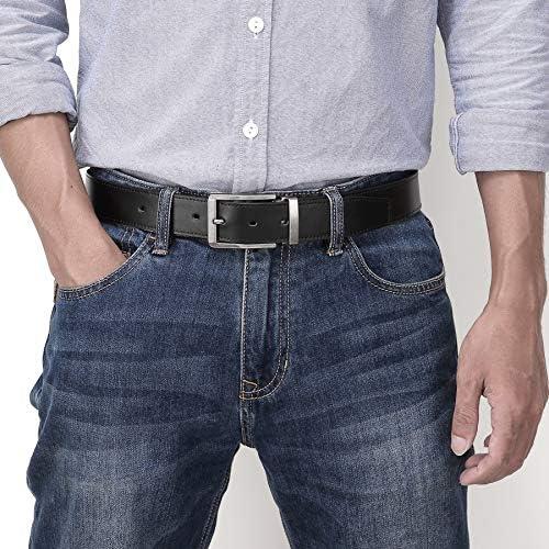 whbage Homme Ceinture Men's Automatic Buckle Genune Leather Strap Black for Male Jeans Suit Pants Business Ratchet Designers Letter High Quality Belt