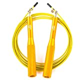 Meglio Speed Skipping Rope Aluminium for Fitness Crossfit Boxing Exercise Workouts - Fully Adjustable