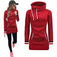 haoricu Women Pullovers, Autumn Winter Women Long Sleeve Sweatshirts for Teen Girls Tops