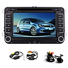 Universal 7 inch-Touch Screen GPS Navigation Car Radio Stereo DVD CD Video Player For For Volkswagen VW Jetta Golf Skoda Passat Seat Head Unit+ Canbus+Free Wireless Rear Camera
