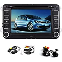 Universal 7 Inch-Touch Screen GPS Navigation Car Radio Stereo DVD CD Video Player For Volkswagen VW Jetta Golf Skoda Passat Seat Head Unit+ Canbus+ Win 8 UI with Fre Wireless Rear Camera