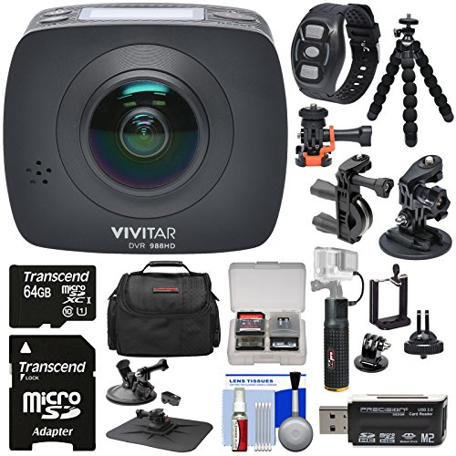 Vivitar DVR988HD 360 VR Wi-Fi Action Video Camera Camcorder