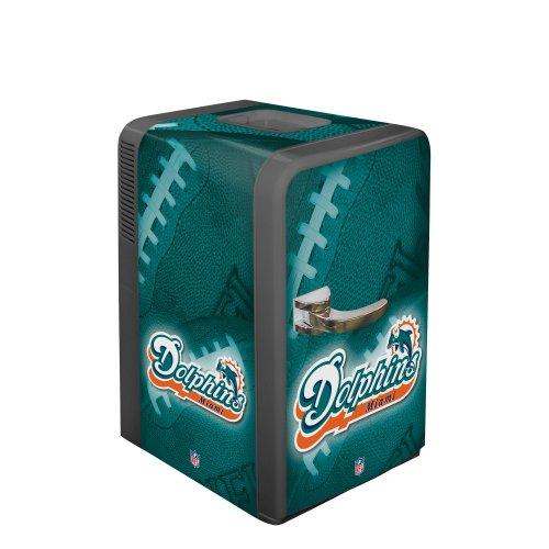 NFL Miami Dolphins Portable Party Fridge, 15 - Miami Outlet Dolphin