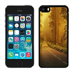 Fog Forest Road Hard Plastic iPhone 5C Protective Phone Case