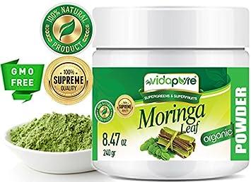 myBIOPURE 100% Pure Organic MORINGA HOJA Moringa oleifera POWDER RAW Sin Gluten Non-GMO