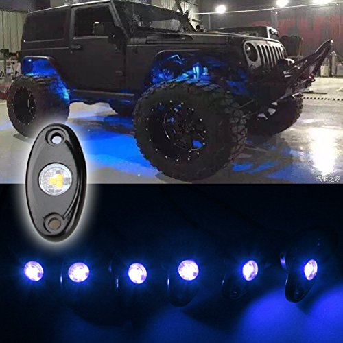 Led Rock Light Kits With 6 Pods Lights For Jeep Off Road