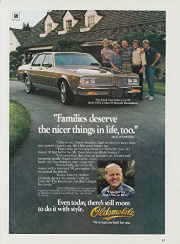 Families deserve nicer things Dick Van Patten Oldsmobile Delta 88 Royale ad 1982 ()