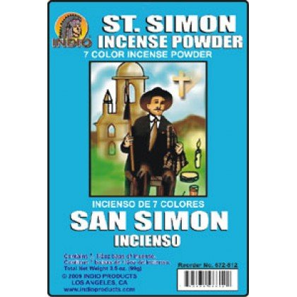SAN SIMON INCIENSO de 7 COLORES - ST SIMON 7bag 3.5OZ ENV INCENSE POWDER