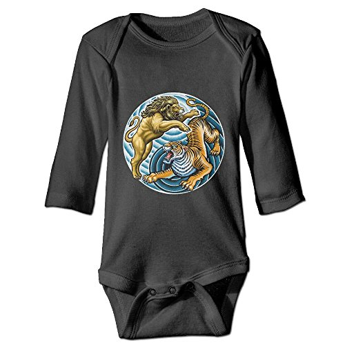 KIDDDDS Infant Yin Yang Lion Tiger Long Sleeve Romper Onesie Bodysuit Jumpsuit -