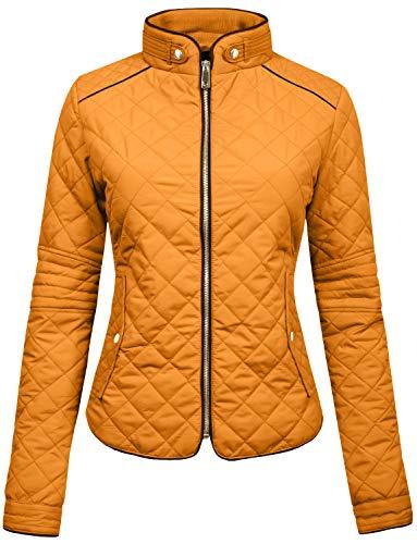 NE PEOPLE Womens Lightweight Quilted Zip (Birthday Warm Jacket)