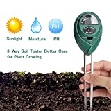 Besmon Soil Test Kit, 3-in-1 Soil Tester (for Plant, Vegetables, Garden, Lawn, Farm, Indoor/Outdoor Plant Care Soil Moisture Meter/Soil PH Meter) Soil PH Test Kit No Battery Needed