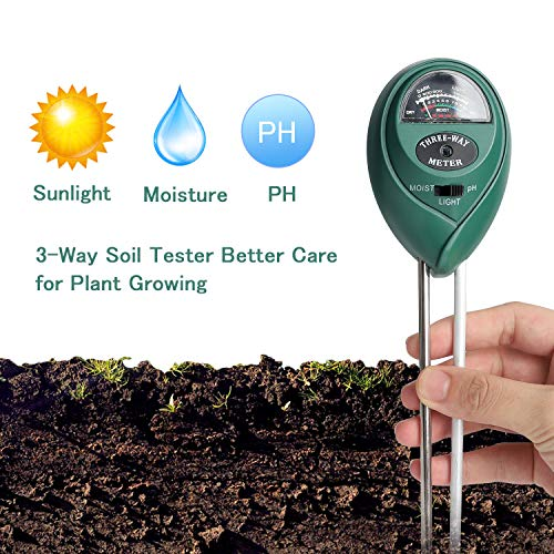Besmon Soil Test Kit, 3-in-1 Soil Tester (for Plant, Vegetables, Garden, Lawn, Farm, Indoor/Outdoor Plant Care Soil Moisture Meter/Soil PH Meter) Soil PH Test Kit No Battery - Soil Moisture Measure