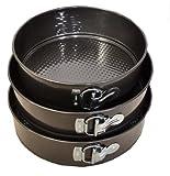 Non-stick Springform Cake Pan Set of 3 - (9'' / 9.75'' /10.5'' ) Dia X 2.75'' H