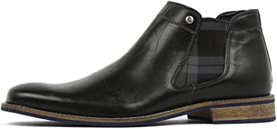Wild Rhino Drake Black Mens Chelsea Boots Ankle Boots Mens Shoes