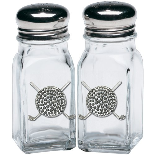 1pc, Pewter Golf Ball Salt & Pepper Shakers ()
