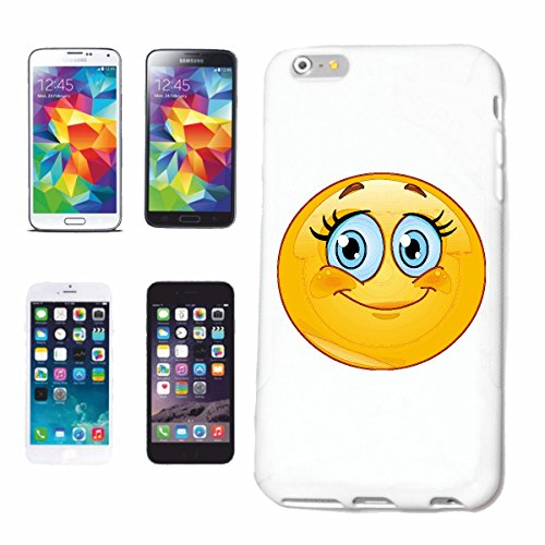 "cas de téléphone Samsung Galaxy S6 edge ""MERRY SMILEY avec de grands yeux ""sourire EMOTICON APP de SMILEYS SMILIES ANDROID IPHONE EMOTICONS IOS"" Hard Case Cover Téléphone Covers Smart Cover pour Samsu"