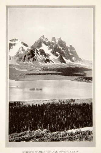 1926 Print Ramparts Amethyst Lake Tonquin Valley Jasper National Alberta Canada - Original Halftone Print