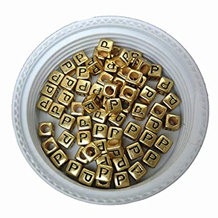 500pcs 2600pcs 6*6mm Gold Color Acrylic Plastic Letters Beads Single English Character Initial Z Printing Jewelry Pacer Beads Beads