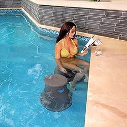 Pool Seat By Liquidseat- Charcoal Granite