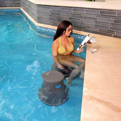 Pool Seat By Liquidseat- Charcoal Granite