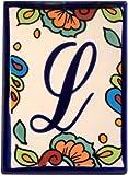 Hacienda Talavera Ceramic House Letter L