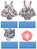 PrinceSasa Baby Girl's Floral Print Ruffles Romper
