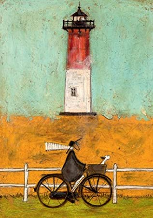 Riding by the light sam toft open greeting card st984 amazon quot riding by the light quot sam toft open greeting card m4hsunfo