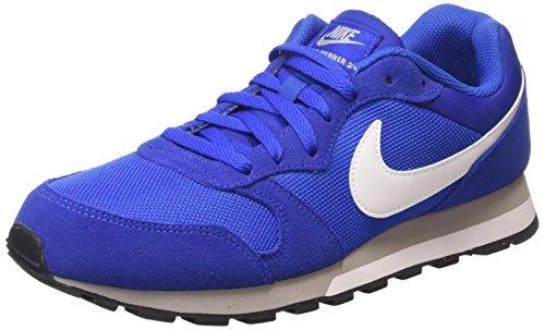 Nike Md Runner 2, Zapatillas de Running para Hombre Azul/Blanco/Gris (Game Royal/White-Wlf Gry-White)