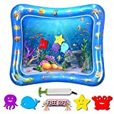 Baby Water Mat Tummy Time - TFS Inflatable Water Play Mat for Babies Toddlers Infants Newborns' Toys Gifts - Best Sensory Water Activity Mats with Pump - Age for 3 4 5 6 7 8 9 Months