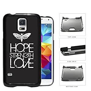 Butterfly Hope Strength Love Eroding Hard Plastic Snap On Cell Phone Case Samsung Galaxy S5 SM-G900