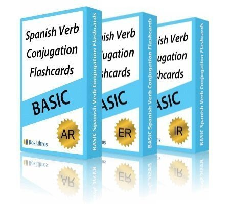 Spanish Verb Conjugation Flashcards 3 Pack Set Dos Libros