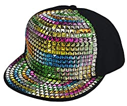 Hip-Hop Flat Sequins Baseball Cap