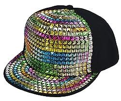 Hip-Hop Flat Sequins Baseball Cap