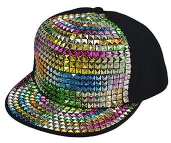 New Flat Hat Baseball Cap Hat Hip-hop Fashion Sequins (one Size, Multicolour)