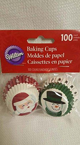 Wilton Mini Snowman (Mini Christmas Cupcake Liners Santa and Snowman)