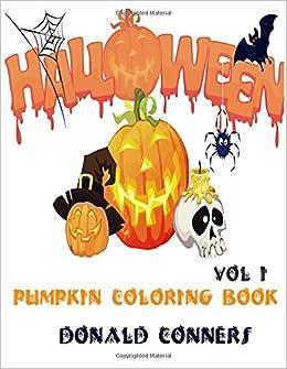 Amazon.com: Pumpkin Coloring Book - Halloween vol 1: Adult Coloring ...