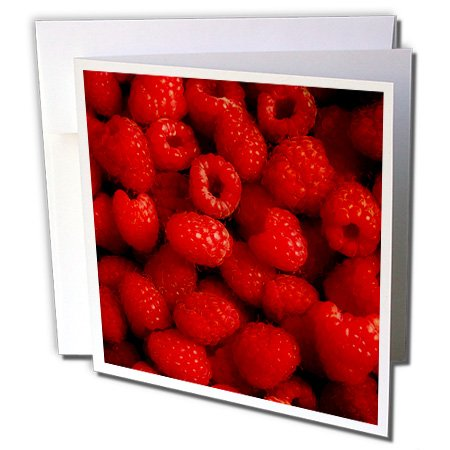 3dRose Raspberries - Greeting Cards, 6 x 6 inches, set of 6 (gc_30025_1)
