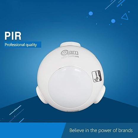 Detector inteligente del sensor de movimiento NAS-PD01Z Z-Wave Plus PIR Home Automation Sensibilidad de notificación de alarmas Sistema Inalámbrico: ...
